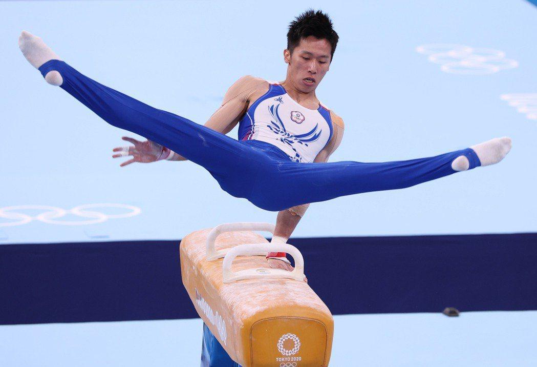 李智凱在2020東京奧運競技體操鞍馬項目摘下銀牌。特派記者余承翰/東京攝影