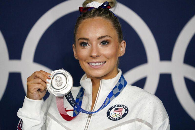 美國體操女將史肯納。 美聯社