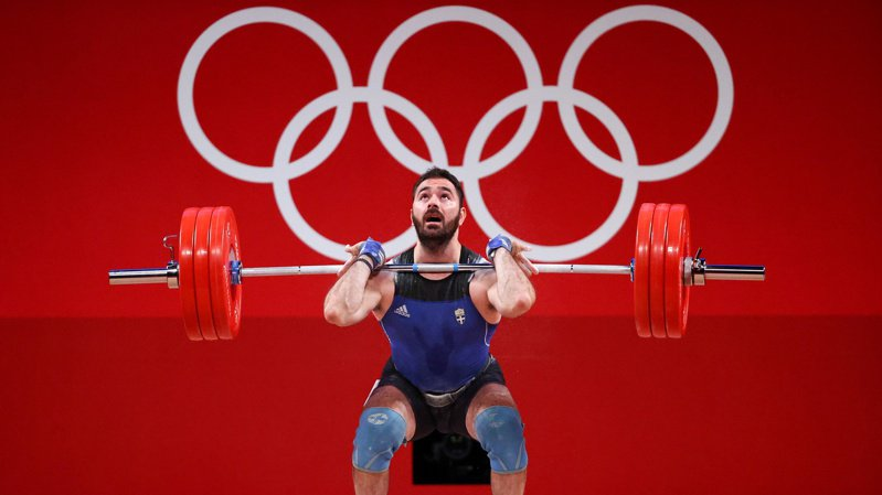 Theodoros Iakovidis代表希臘參加東京奧運,最後以第11名完成賽事。 路透