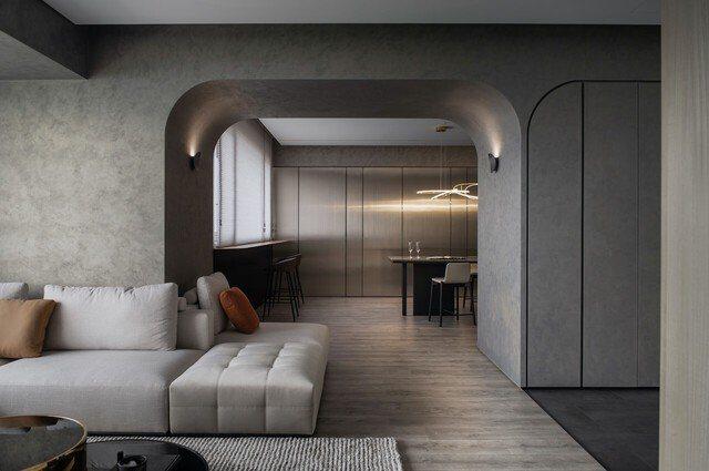 設計團隊以最低限度的設計、極簡的風格作為輔助,將室外景致透過設計重新演繹,轉化成形體、設計語彙呈現在空間之中。