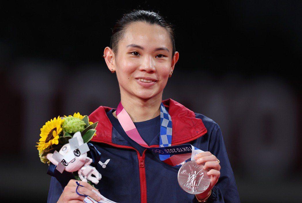 戴資穎拿下2020東京奧運羽球女單銀牌。特派記者余承翰/東京攝影