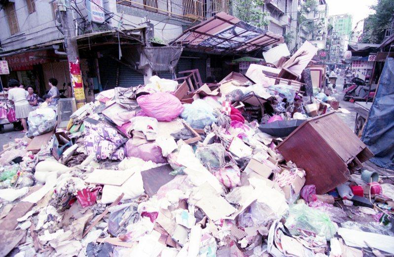 賀伯颱風後街景。圖/聯合報系資料照片