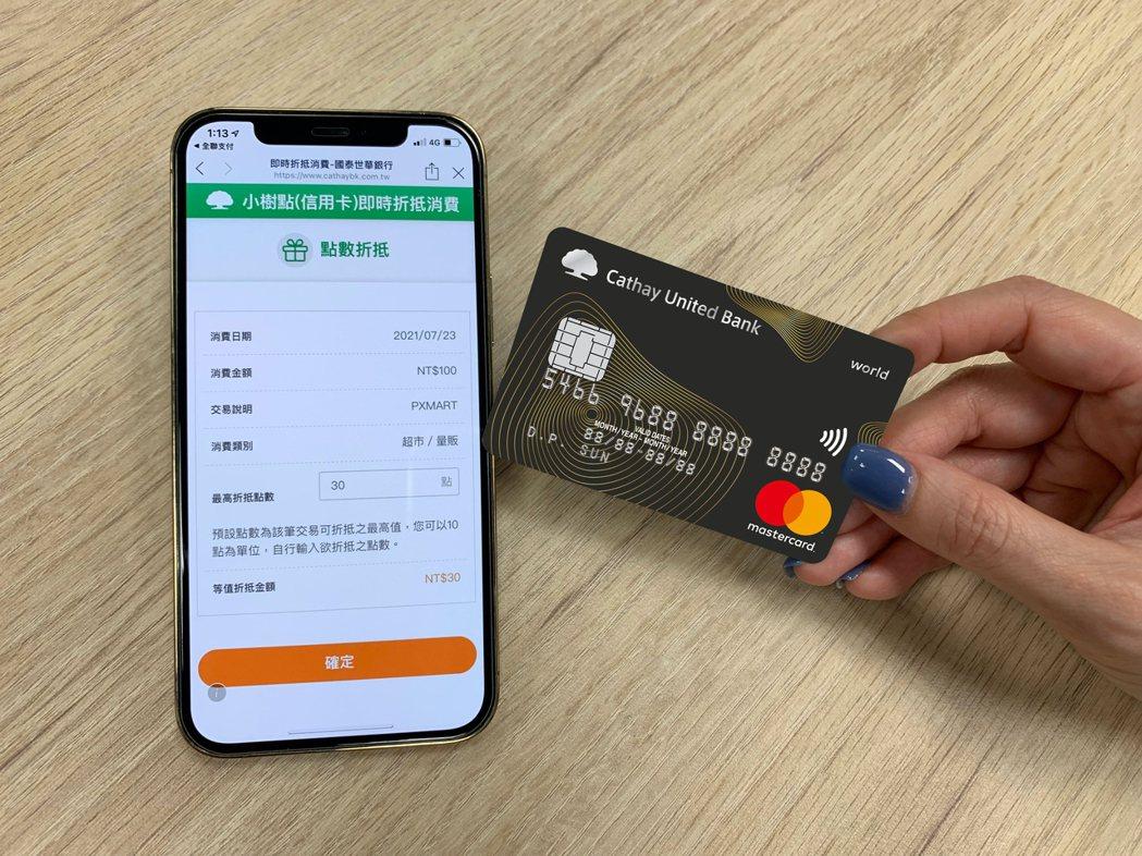 國泰世華銀行信用卡回饋點數機制全面轉換為「小樹點(信用卡)」,1點等同於新臺幣1...