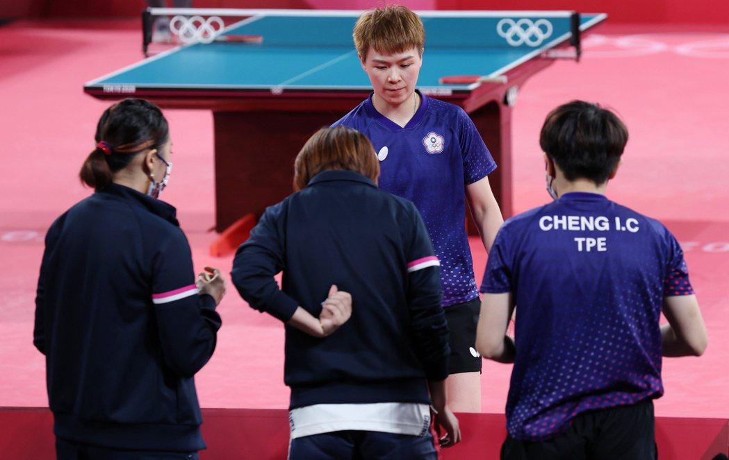 中華女桌8強賽碰日本,第3點由陳思羽上陣。特派記者余承翰/東京攝影