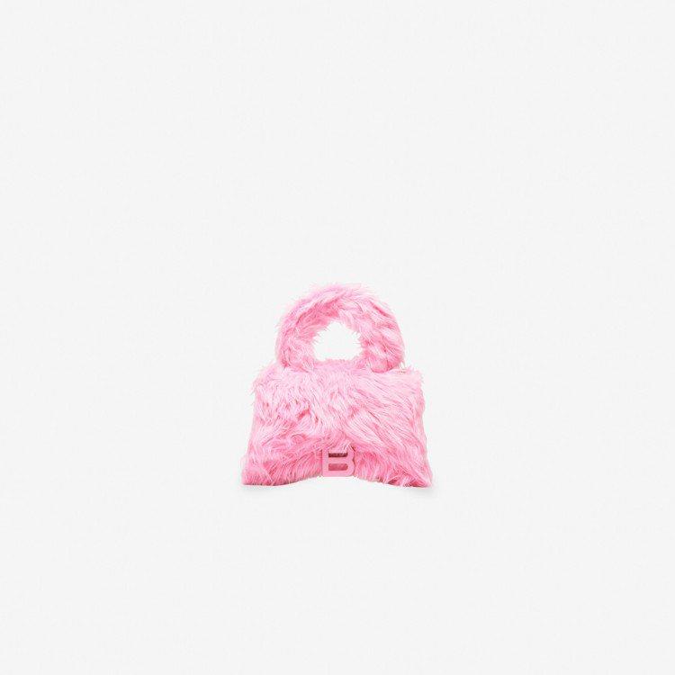 迷你仿毛沙漏包,62,900元。圖/BALENCIAGA提供