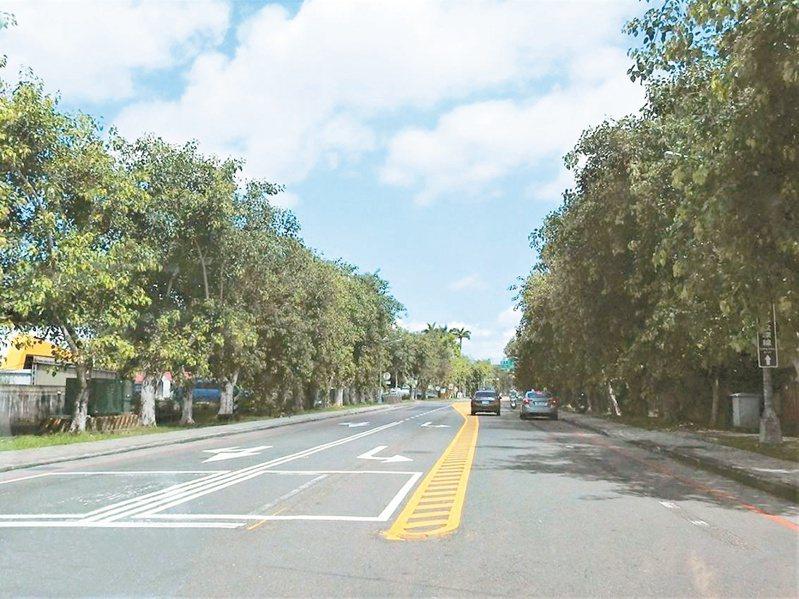 南投中興新村中正路標線重新劃設,路肩大幅縮減無法停車,引發當地反彈。記者賴香珊/攝影