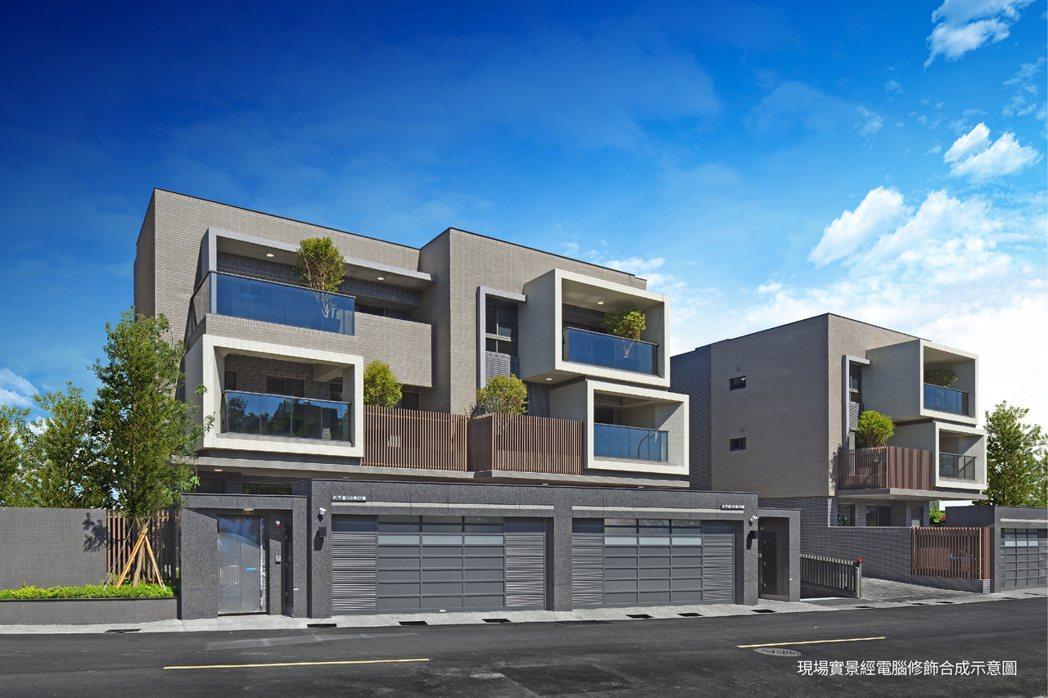 2樓半低寬平別墅,獨門獨院出入高規格隱私。圖片提供/匯成機構