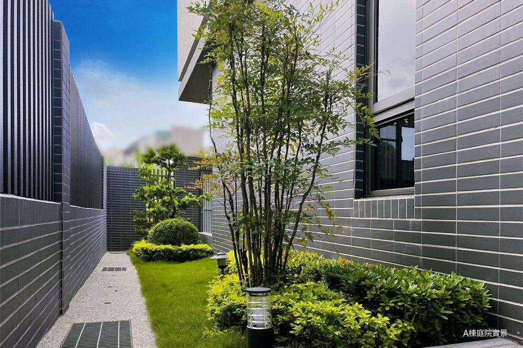 獨立綠意庭院,品味自然感受風光綠水。圖片提供/匯成機構