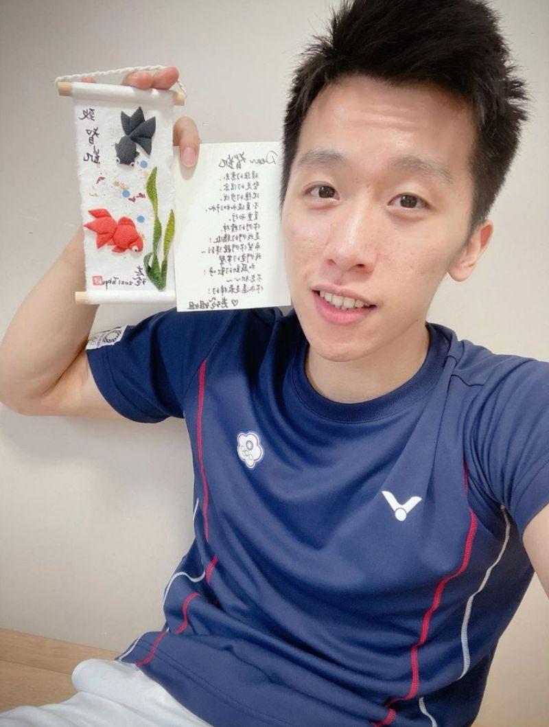 「鞍馬王子」李智凱透露,賽前就收到林志玲獨一無二的禮物。圖/擷自李智凱IG