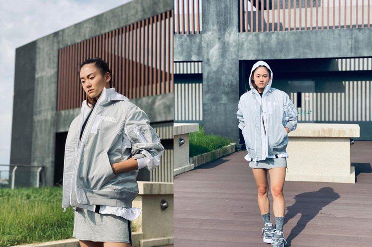 文姿云詮釋Nike新鞋時,都堪比名模一般,架勢十足,讓人驚豔。圖/摘自insta...