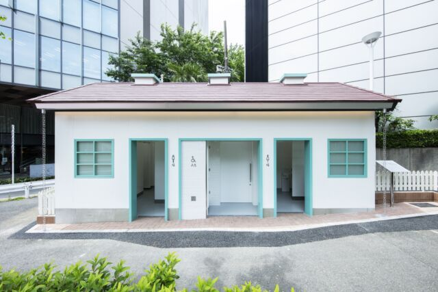 NIGO以摩天高樓圍繞的舊時小屋為靈感,打造東京公廁新計畫。圖/取自tokyot...