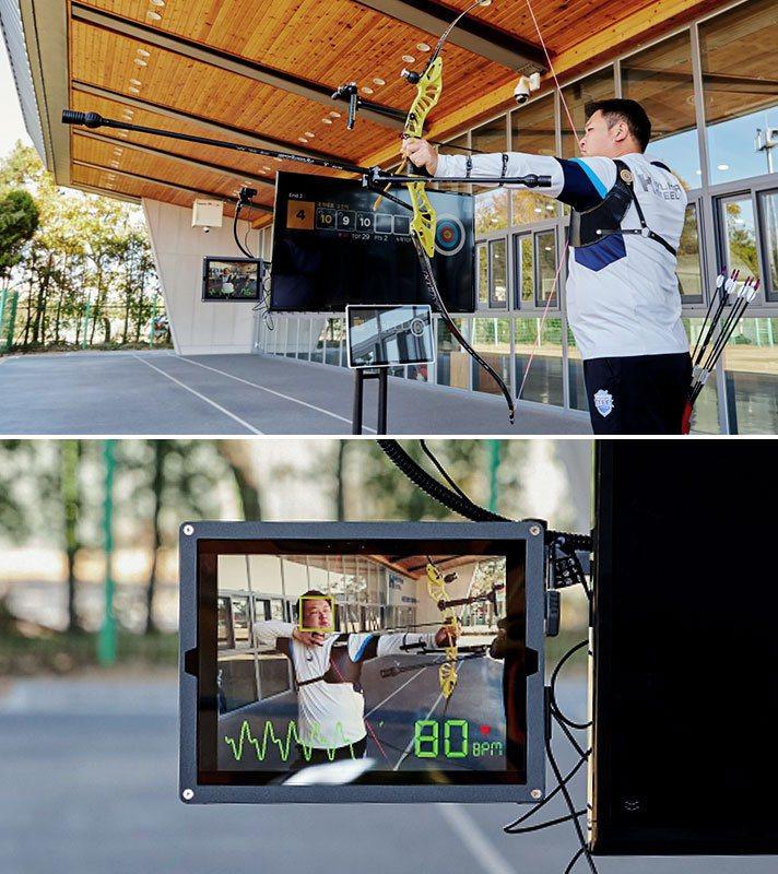 Hyundai為射箭選手開發視像心跳偵測裝置。 摘自Hyundai