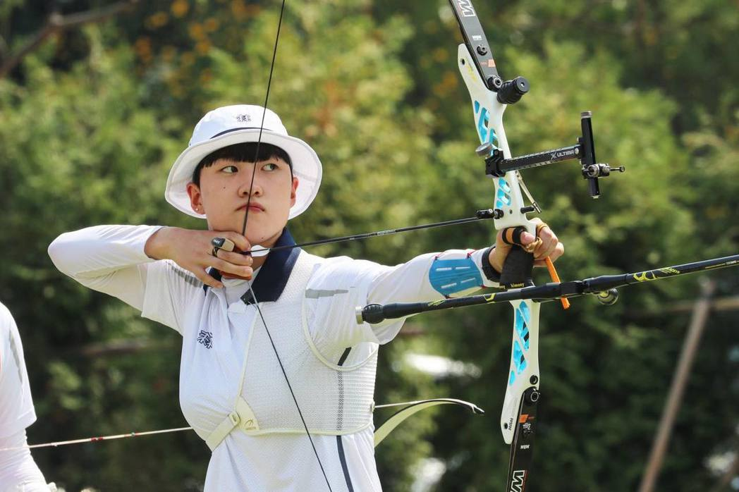 韓國射箭選手安山在今年東京奧運分別射下了混合、女團與個人賽的三面金牌。 摘自大韓...
