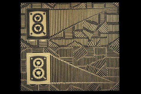 岡本信治郎的作品描繪記憶中的音箱。圖/姚謙提供