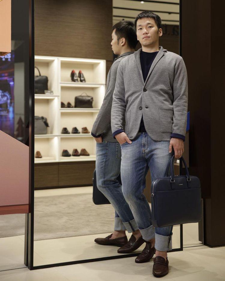 李洋獲邀在義大利鞋履品牌展現時尚的一面。圖/取自IG
