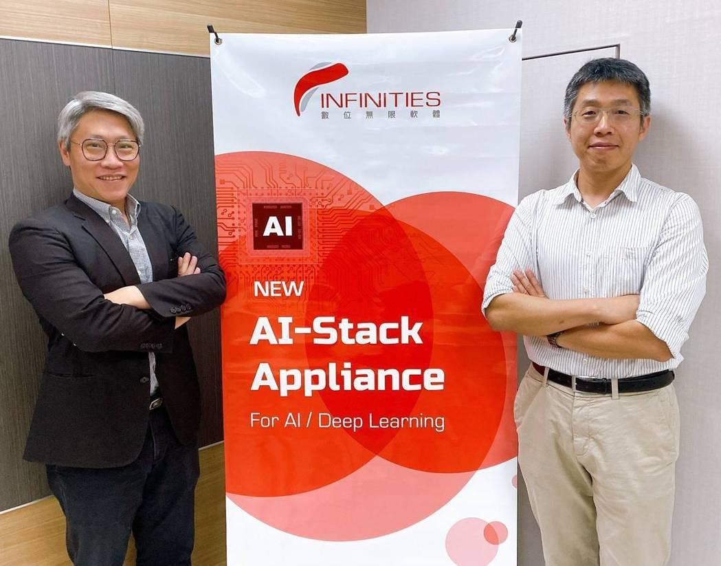 視旅科技CEO孫士牧(圖右)與數位無限軟體公司總經理陳文裕,聯合推出AI-Sta...