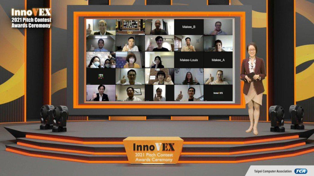 InnoVEX Pitch Contest創新創業競賽日前於線上首播決賽過程與頒...