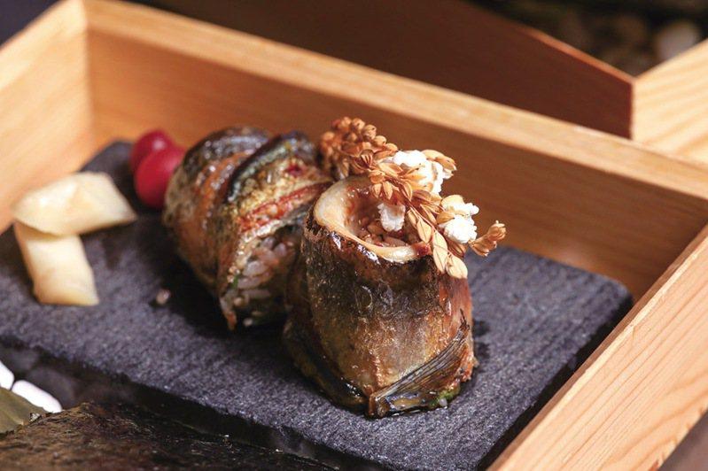 ▲台南晶英酒店Robin's鐵板燒秋刀魚卷。  圖:台南市觀光旅遊局/提供