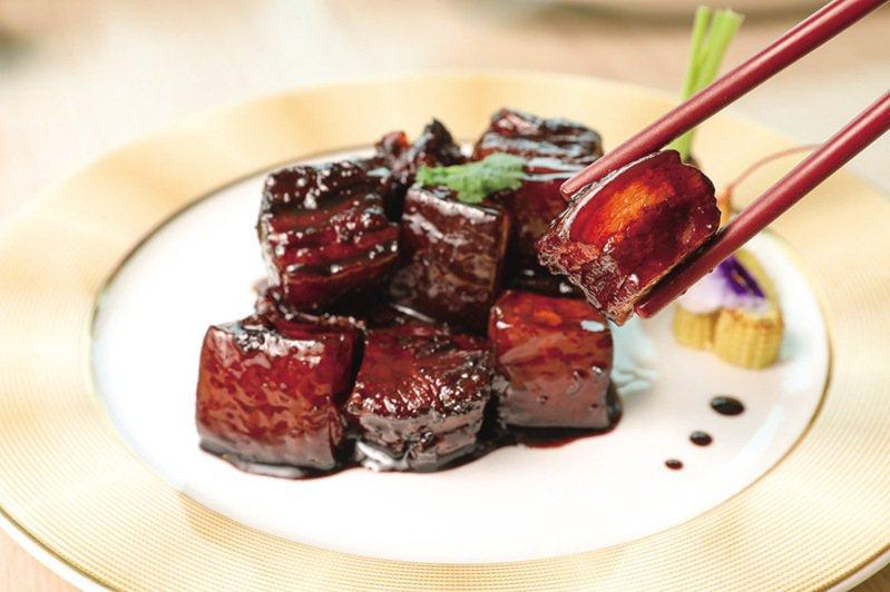 ▲香格里拉台南遠東國際大飯店醉月樓上海紅燒肉。  圖:台南市觀光旅遊局/提供