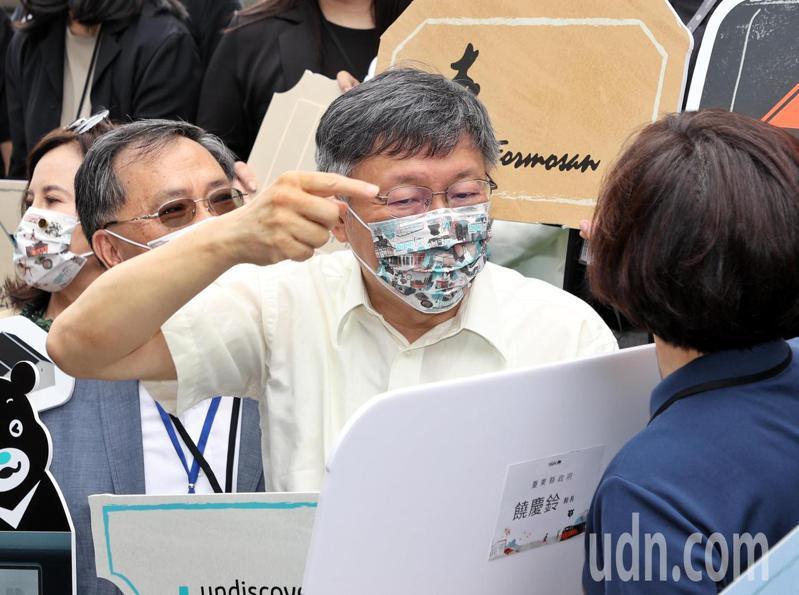 台北市長柯文哲認為疫情有機會清零,但面對變種病毒威脅,口罩仍須戴上好一陣子。記者曾原信/攝影