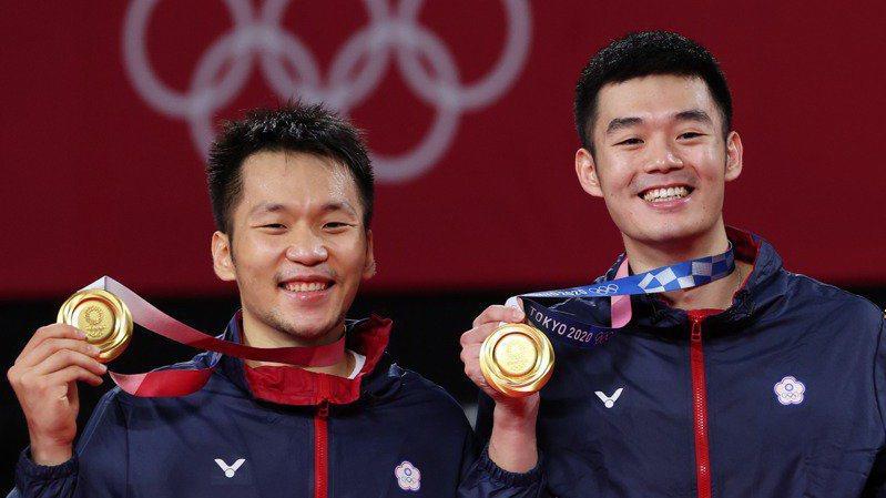 台灣羽球男雙組合李洋、王齊麟日前在東奧擊敗中國選手拿下金牌。記者余承翰/東京攝影