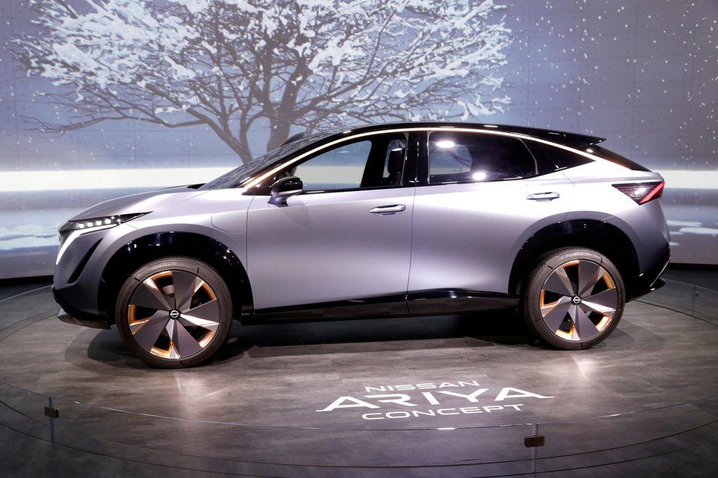 日產在去年拉斯維加斯消費性電子展展示電動跨界休旅概念車Nissan Ariya。...