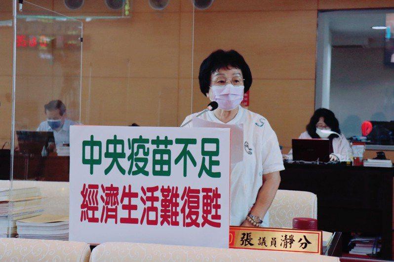 台中市議員張瀞分要求市府經發局加強輔導青年創業的力道。記者陳秋雲/攝影