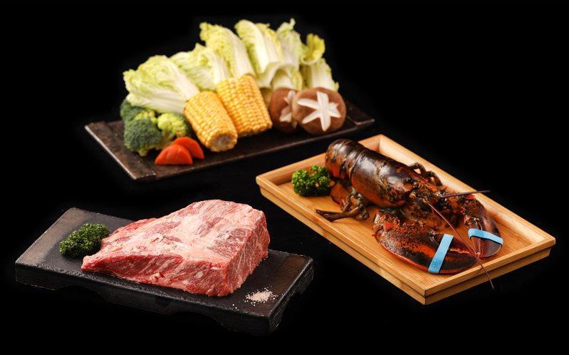 樂軒雙北門市推出「點雙人套餐送龍蝦」的限時優惠活動。圖/樂軒提供