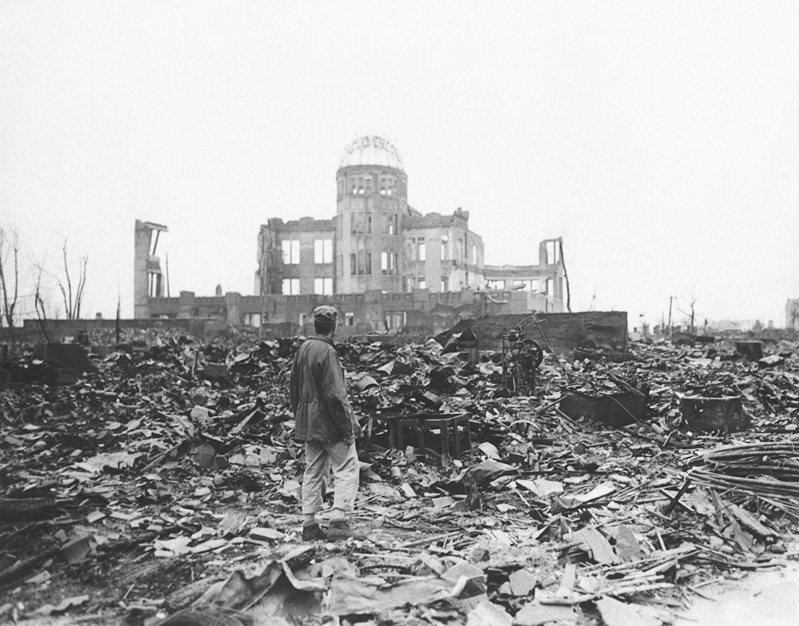 1945年8月6日美軍對廣島投下第一顆原子彈,將廣島市中心夷為平地。美聯社