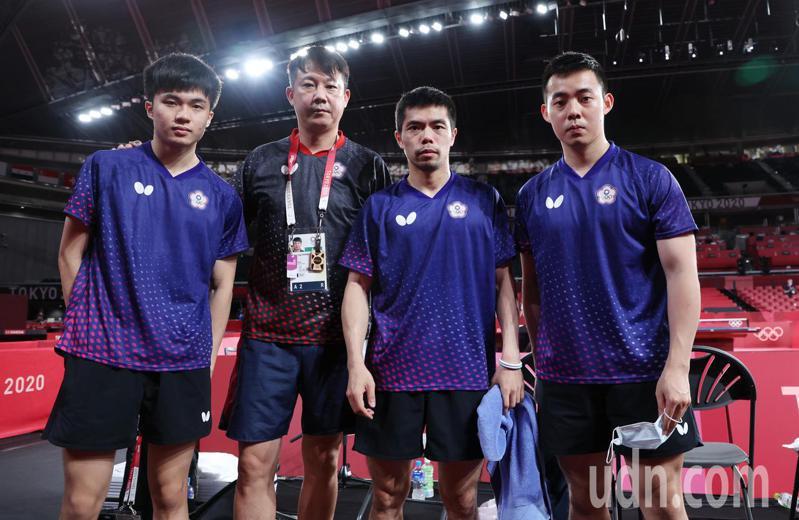 我國桌球男團今天在東京奧運8強賽不敵德國。特派記者余承翰/東京攝影