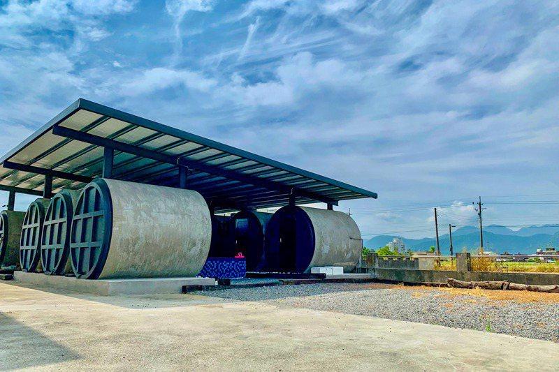 富英農舍今年推陳出新,打造6個「防空洞」作為住宿新空間。 圖/楊心惠提供