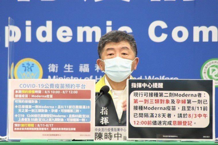 中央流行疫情指揮中心指揮官陳時中。圖/中央流行疫情指揮中心提供