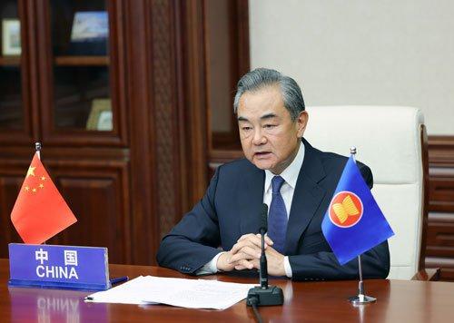 大陸國務委員兼外長王毅。圖/取自大陸外交部網站