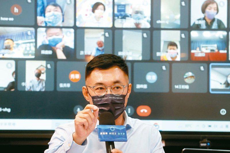 現任黨主席江啟臣說確定不選二○二四總統,會當「造王者」。記者鄭超文/攝影