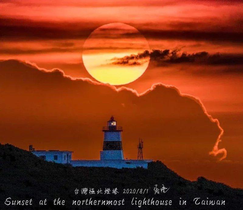 夏季美景台灣極北懸日又來了,今年從7月24日起至8月26日。  圖/張隆提供