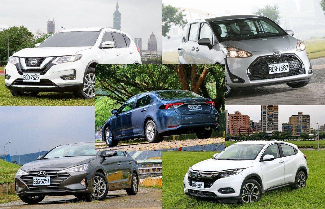 五款今年1到7月衰退明顯的車款。