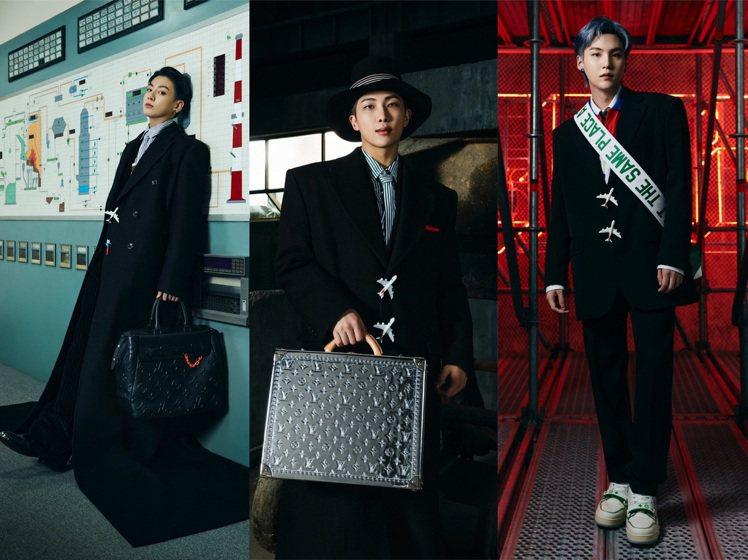 BTS防彈少年團(左起)Jung Kook和RM分別詮釋超長大衣與大衣兩款,SU...