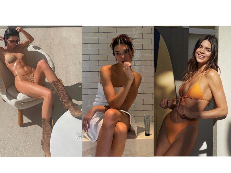 25歲的坎達爾珍娜不僅擁有高顏值,也透過健身擁有漂亮的線條。圖/取自IG