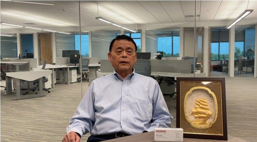 藥華藥執行長林國鐘博士位於美國波士頓辦公室。業者/提供