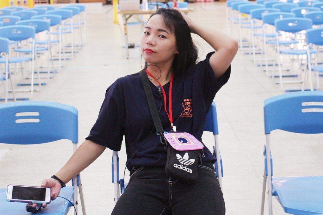 社團活動現場,常見最早到、最晚離開的江旻樺一人身影。 校方/提供