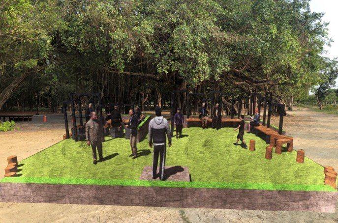 崑大USR團隊提出「全齡共樂」方案,「陽光草坪」完善大隆田生態文化園區。