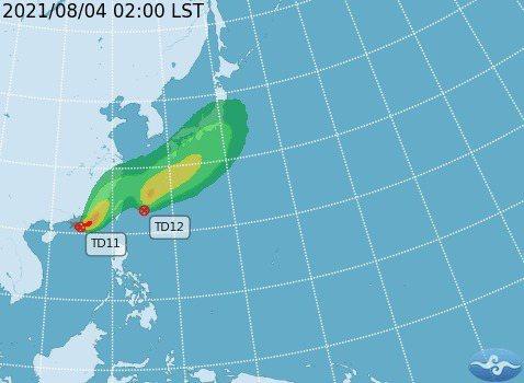 盧碧颱風已生成。圖/氣象局