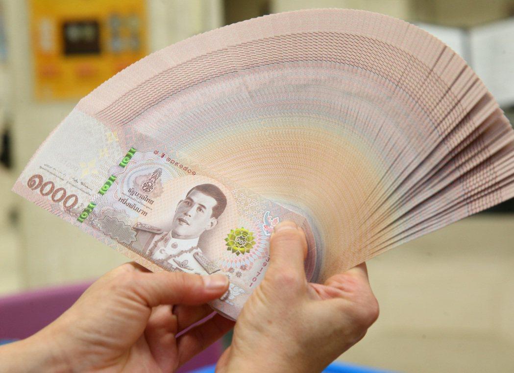 泰銖今年來重貶9%。(本報系資料照片)