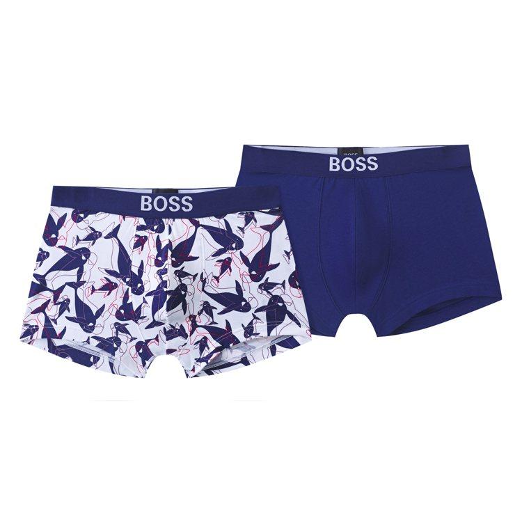 七夕限定系列平口四角褲套組(一組兩件),2200元。圖/BOSS提供