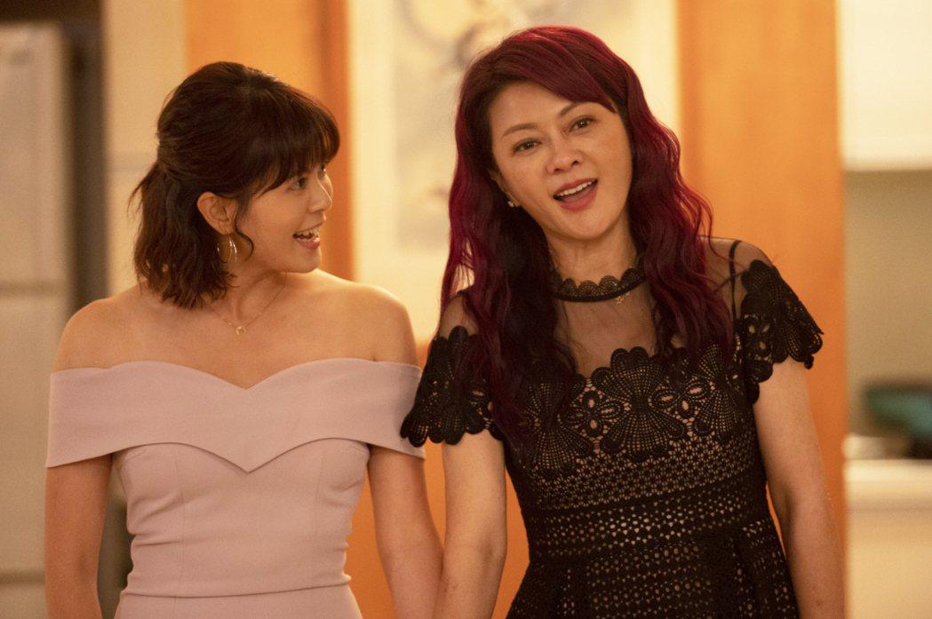 葛蕾(右)演林柏妤媽媽,劇中叫宋慧喬。圖/TVBS提供