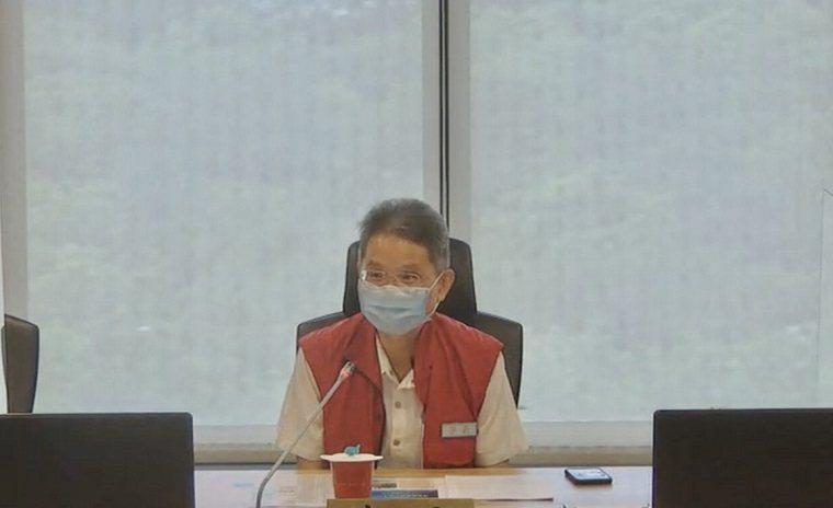 氣象局預計4日下午2時30分發布盧碧颱風的海上颱風警報,為因應可能帶來豐沛雨量,經濟部水利署長賴建信已於上午召開防汛視訊會議。  圖/經濟部提供