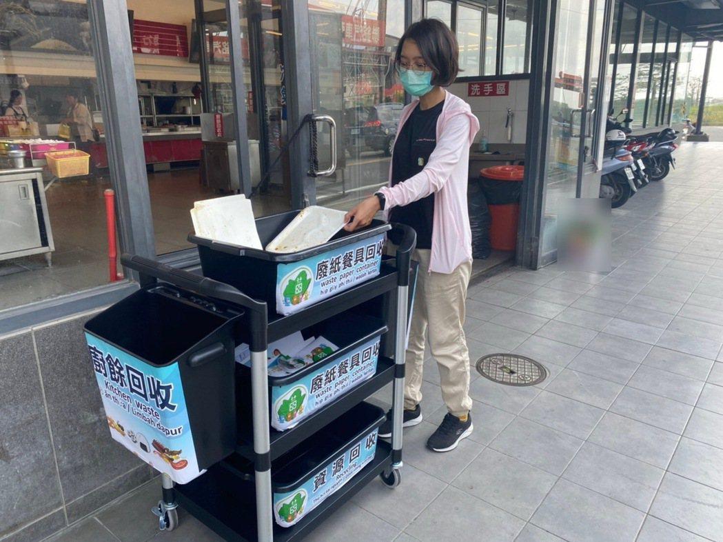 環保署自10月1日起規範自助餐及便當店需設置紙具回收設施,台南市環保局再推補助措...