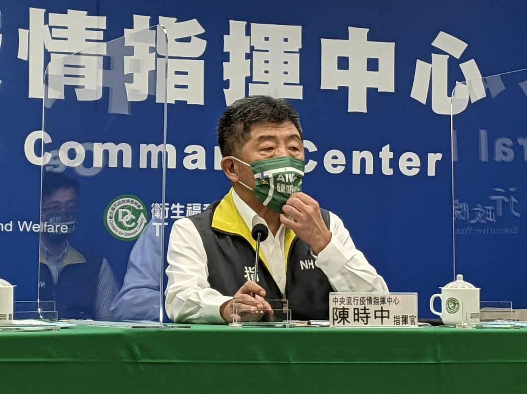 中央流行疫情指揮中心指揮官陳時中。記者謝承恩/攝影