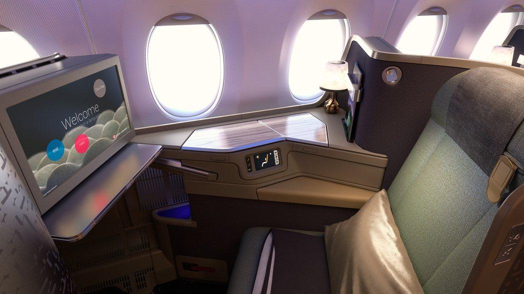 王齊麟、李洋、戴資穎等選手和教練都將安排在豪華商務艙靠窗座位。圖/華航提供