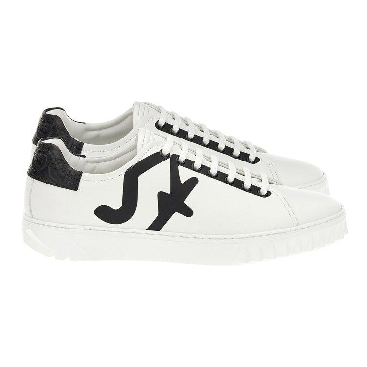 CUBE黑白色拼接牛皮運動鞋,25,900元。圖/Salvatore Ferra...